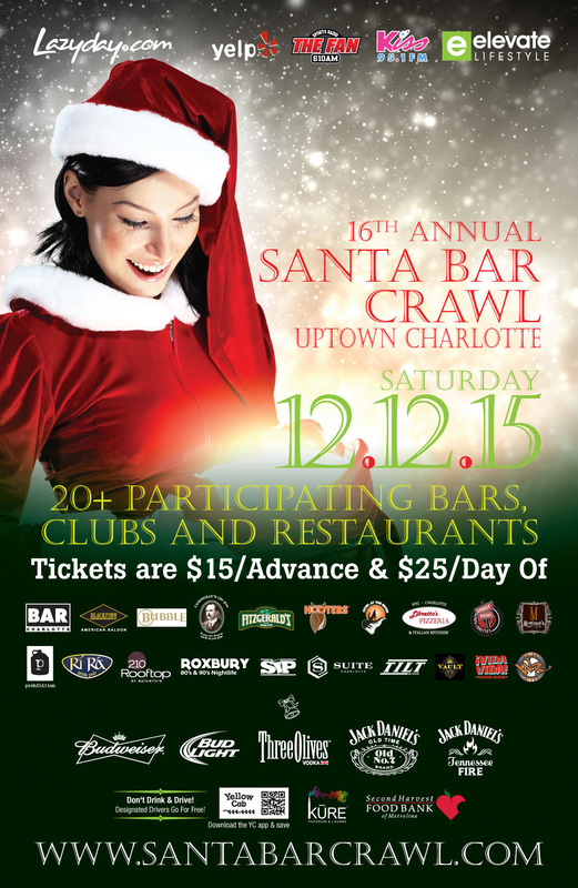 Santa Bar Crawl Charlotte 2015